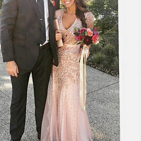 Adrianna Papell Dresses Blush Sequin Dress Poshmark